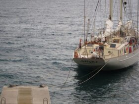 Schooner Argo at The Drop Anchor in Dominica
