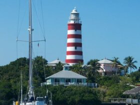 Hopetown with its candy-cane lighthouse