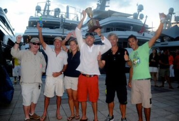 The Winning Crew from The Gunboat 66 Phaedo