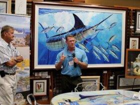Guy Harvey and President of his Outpost, Mark Ellert