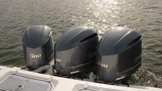 Yamaha 300 HP Outboard Engines Under Joystick Control