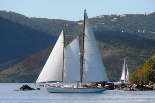 Classic Yachts Dance at the Sweethearts of the Caribbean and Classic Yacht Regatta