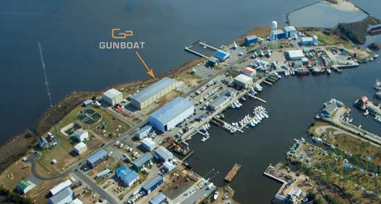Gunboats New Plant in Wanchese North Carolina