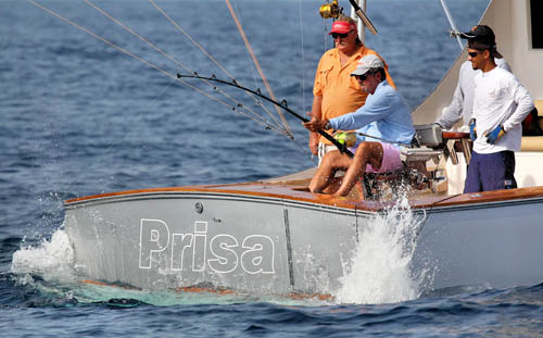 Angler Fridel Stubbe fights a big one on Prisa during the 58th edition of the IBT CNSJ. Credit: Richard Gibson/IBT CNSJ 2011