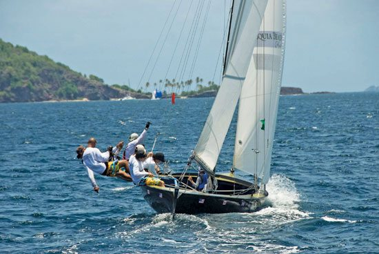 New boat Black Berry drew big crowds. Photo courtesy of Bequia Heineken Easter Regatta