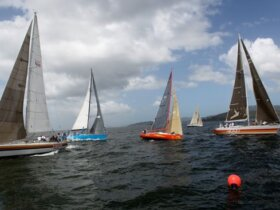 Action during the Trinidad Carnival Regatta