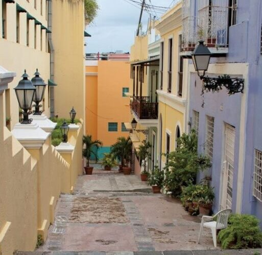 A typical street in Old San Juan. Photo By Caryn B. Davis