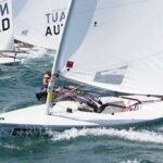 Andrew Lewis sailing Lasers