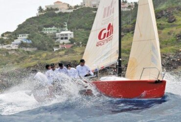Budget Marine Gill in action during the 8th Captain Oliver's Regatta – Heineken Regatta Director Michele Korteweg joined the crew, her first experience racing a Melges 24. Photo: Nataly Dannenberg