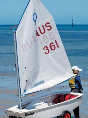 An Optimist dinghy. Photo: Bilby/Gallery