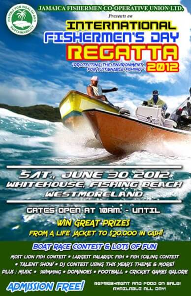 Poster for the Jamaica International Fishermen's Day Regatta