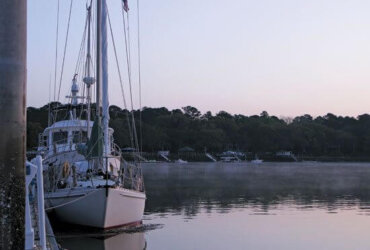 Spotlight on the Georgia Liveaboard Law. The view from the dock in Savannah. Photo: Maria Karlsson