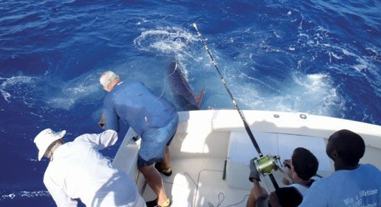 The Blue Rapid team in the Antigua and Barbuda Sports Fishing Tournament – winners of the Marlin Division