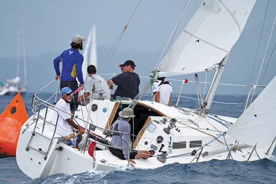 Action at the Annual Puerto Rico Vela Cup. Photo: Leighton O'Connor / www.leightonoconnor.com