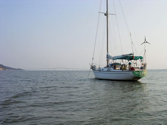 Sea Spell anchored along the ICW. Photo by Joanne Lucey
