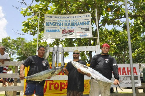 Winners of the Bastille Day King Fish Tournament