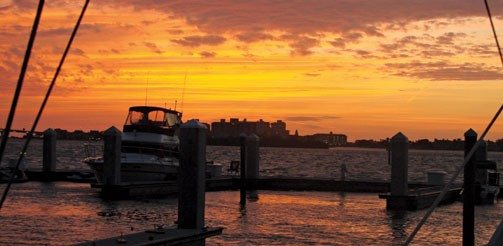 Enjoying the calm after the storm at Clearwater Downtown Marina. Photo by Tony Miró