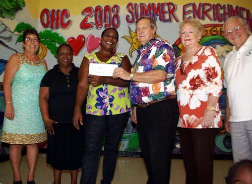 VI Game Fishing Club present a $5000 check to the Boys & Girls Club of St. Thomas. Credit: Jimmy Loveland