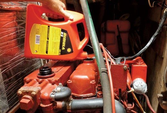 Diesel Maintenance Tips - Change the oil – the best thing you can ever do for your diesel engine. Photo by Sim Hoggarth