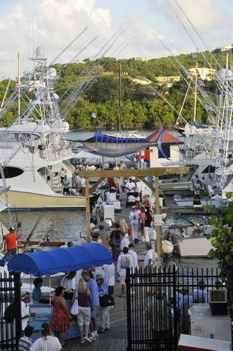 the docks at IGY American Yacht Harbor in the run-up to the USVI Open/Atlantic Blue Marlin Tournament.