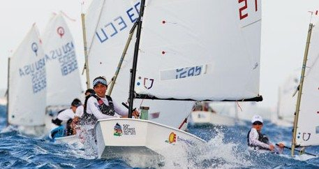 Maria Justina Pacheco finished third among the Caribbean sailors. Photo: Matias Capizzano