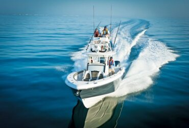 Known for building luxury family fishing boats, Everglades Boats recently introduced their first tournament design, the 355T. Photo Courtesy of Everglades Boats
