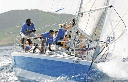 Captain Nick's boat in action - St Croix International Regatta