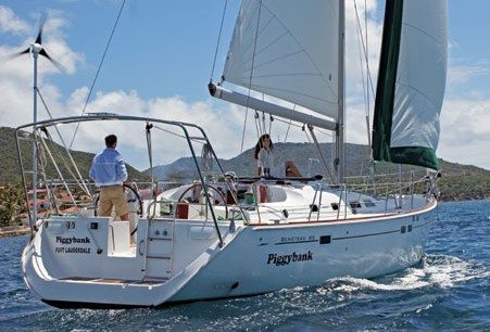 Select Yachts' 47ft Beneteau, Piggybank, was the boat of choice for the Reed family charter. Photo: Howard Eckel