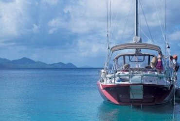Until my last charter here I'd always bypassed Little Harbour on Peter Island. Lots of room, great views, some excellent snorkeling. I won't make that mistake again. Photo: Sharon Matthews-Stevens www.sherryspix.com