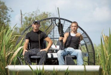Swamp People - RJ (left) and Jay Paul on the hunt for 'gators. Photo Courtesy of the Molineres