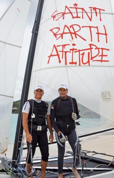 Jeff Ledée and Vincent Jordil – sailors with a Saint Barth attitude! Photo: Rosemond Gréaux