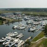 Aerial view of Amelia Island Yacht Basin