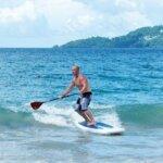 Grand Anse shore break SUP action