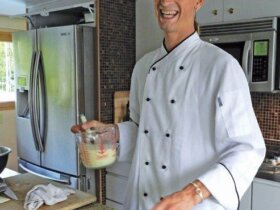 Winning Chef Joseph Stiles of M/Y Freedom. Photo by All At Sea food columnist Jan Robinson