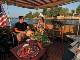 Picture of people enjoying their charter yacht