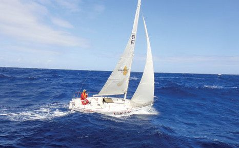 Peter Hoad during the Around Barbados Race