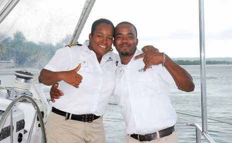Captain Sydelle Gifford with First Mate Jason Powell