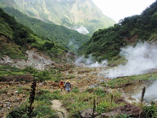 One of the top Hiking Trails on Dominica. The hike to Boiling Lake is strenuous, but spectacular. Photo by Devi Sharp