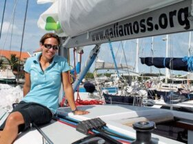 Galia Moss at Simpson Bay Marina, St. Maarten. Photo by Robert Luckock