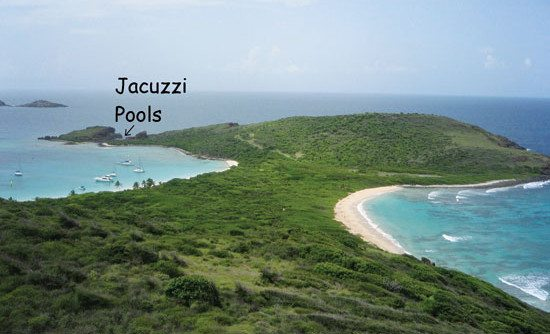 Spanish Virgin Islands - Visit Culebrita, a wildlife refuge and frolic in the warm waters of the Jacuzzi pools. Photo by Rosie Burr