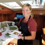Chef Toni Leslie – S/Y Inukshuk. Photo Jan Robinson