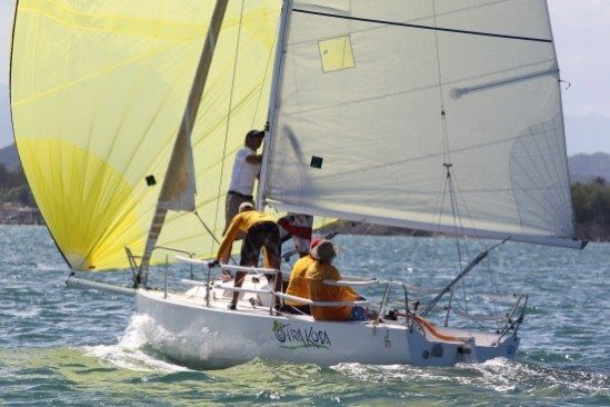 Otra Kosa sails in the CSA Class at the San Juan Regatta. Credit: Carlos Lee from Majadero