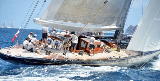 J-Class yacht Hanuman sailing in the 2012 St. Barth Bucket. Photo: Rosemond Gréaux