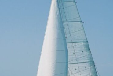 Irie under full sail in the Bahamas, where her shallow draft came in handy. Photo courtesy of S/V Cindy's Island