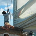 Thomas and his trusty lookout say farewell to Dominica