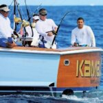 International Billfish Tournament Puerto Rico - Club Nautico de San Juan angler Jose Vicente fights Blue on Kamajoe. Photo courtesy of Virginia de los Reyes CNSJ