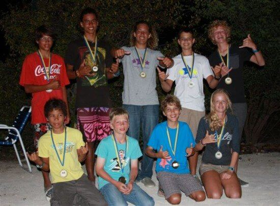 Windsurfing - All Classes of Winners in the Curacao Regatta