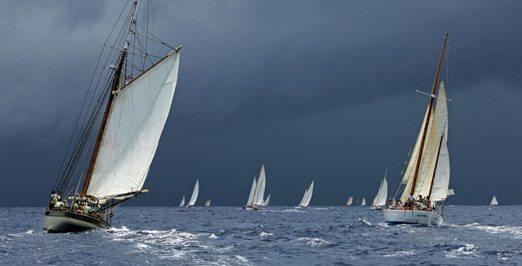 Under stormy skies. Photo: Jean Jarreau / www.ClassicRegatta.com