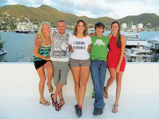 Ready to set sail, from left: Kippy Gilders, Alex Nebe, Maria Merckens, Max Loubser and Laura Bijnsdorp