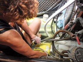 A new exhaust system requires miles of expensive hose.